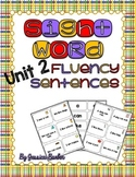 Sight Word Fluency Sentence Cards- Pre-primer Unit 2