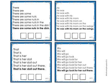 Sight Word Fluency Sentence Task Cards {Expanding Bundle}