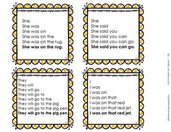 Sight Word Fluency Sentence Task Cards {FREEBIE}