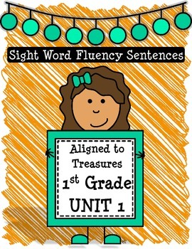 Sight Word Fluency Sentences Unit 1