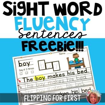 Sight Word Fluency Sentences {Freebie!} by Heidi Neels