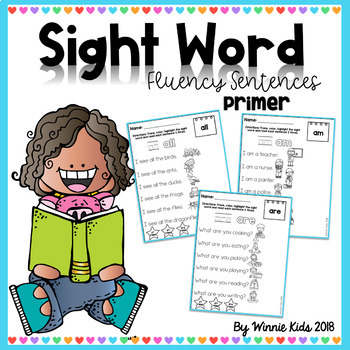 Sight Word Fluency Sentences - Primer