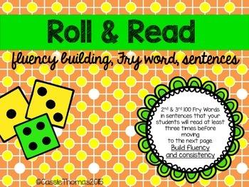 Sight Word Fluency Sentences {Roll & Read}