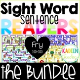 Sight Word Sentence Readers- Fry 100-300 words bundle