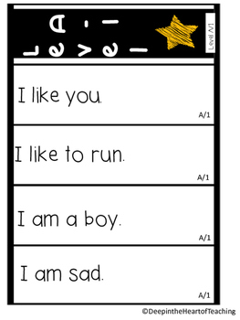 Sight Word Fluency Strips Level A-1