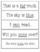 Sight Word Fluency Strips - Pre-primer
