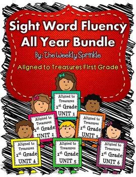 Sight Word Fluency Treasures Bundle Units 1-6