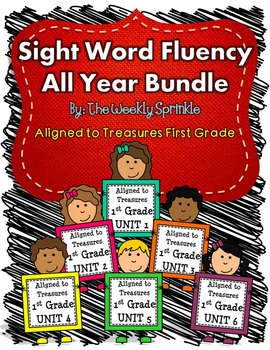 Sight Word Fluency Treasures Bundle Units 1-6