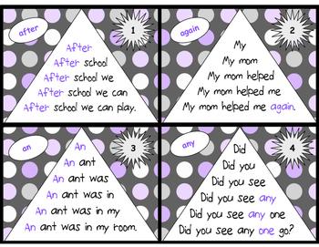 Sight Word Fluency Pyramid Task Cards {First Grade Sight Word Set}