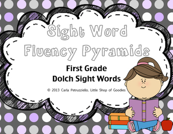 Sight Word Fluency Pyramid Task Cards {First Grade Sight Word Set}