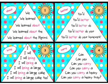 Sight Word Fluency Pyramid Task Cards {Third Grade Dolch Sight Word Set}
