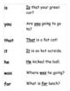 Sight Word Fluency Wordbook