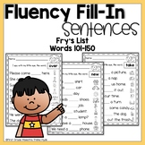 Sight Word Fluency Worksheets Frys Words 101 to 150