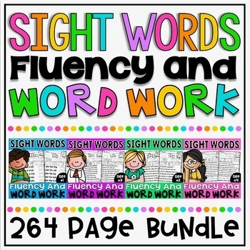 Back to School Sight Words Fluency and Word Work