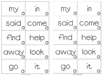 Sight Word Fluency for Little People and Reading Intervention