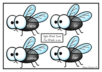 Sight Word Fly Swat Fry Words 51-100