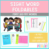 Sight Word Foldable: First 100 Fry Words
