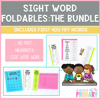 Sight Word Foldable Growing Bundle: First 400 Fry Words