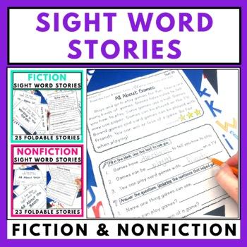 Sight Word Foldable Stories Bundle - Fiction and Nonfiction