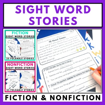 Sight Word Foldable Stories Bundle