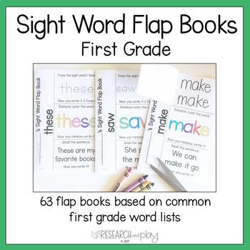 First Grade Sight Word Interactive Flap Books