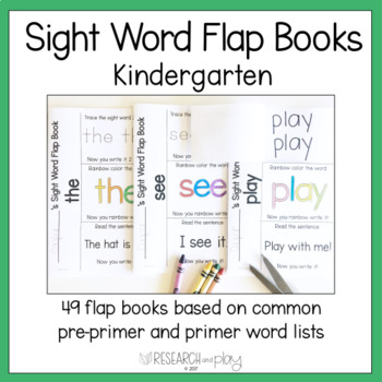 Kindergarten Sight Word Interactive Flap Books