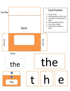 Sight Word Folder freebie. literacy center activity. Comments needed!