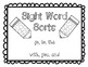 Sight Word Font Sorts - Multiple Words in Mixed Sets