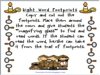 Sight Word Footprints