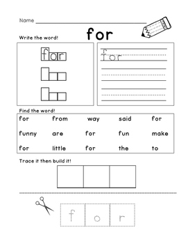 Sight Word: For