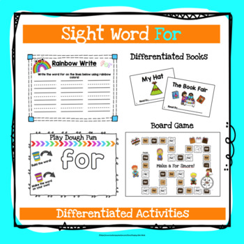 Sight Word For Activities