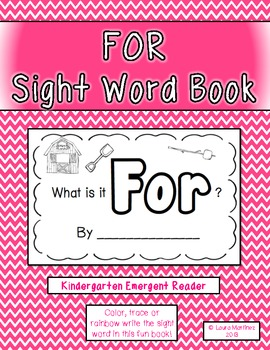"""Sight Word """"For"""" Emergent Reader"""
