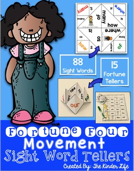 Sight Word Movement Fortune Tellers 88 Sight Words {15 Fortune Tellers}