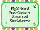 Sight Word Four Corners