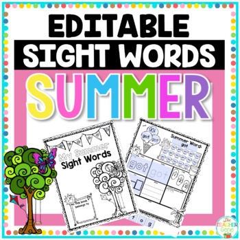 Editable Sight Word Activities Bundle (Seasons)
