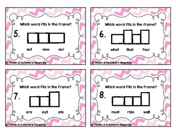 Sight Word Frames Task Cards: Primer Set