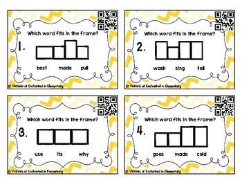 Sight Word Frames Task Cards: Second Grade Set