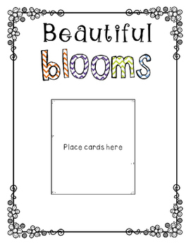Sight Word Freebie: Beautiful Blooms
