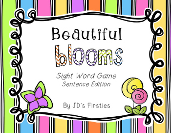 Sight Word Freebie: Beautiful Blooms Sentence Edition