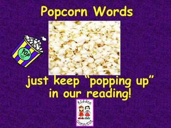 "Sight Word Freebie - ""Popcorn Word"" PowerPoint Slideshow"