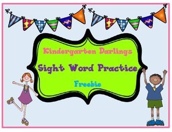 Sight Word Freebie: Rainbow Writing