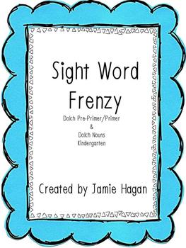 Sight Word Frenzy- kindergarten