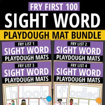 Sight Word Fry First 100 BUNDLE: Play Dough Activity Mats