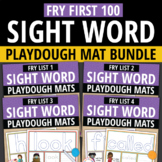Sight Word Fry First 100 BUNDLE: Play Dough Activity Mats