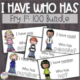 Sight Word (Fry First 100) I Have Who Has Game Bundle