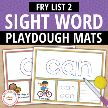 Sight Word Fry List 2 Play Dough Activity Mats:Build, Read, Trace, & Write