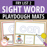 Sight Word Fry List 2 Play Dough Activity Mats:Build, Read