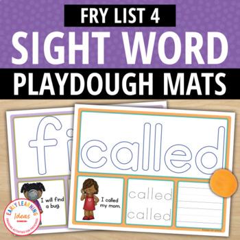 Sight Word Fry List 4 Play Dough Activity Mats:Build, Read, Trace, & Write