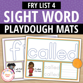 Sight Word Fry List 4 Play Dough Activity Mats:Build, Read, Trace, & Write