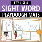 Sight Word Fry List 4 Play Dough Activity Mats:Build, Read